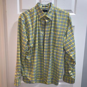 Lands' End gingham, blue, green yellow